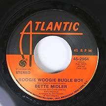 Bette Midler 45 RPM Boogie Woogie Bugle Boy / Delta Down