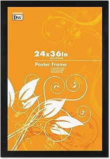 DAX Black Plastic Poster Frame w/Plastic Window, Wide Profile, 24 x 36