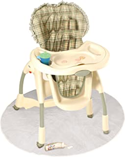 J is for Jeep Baby High Chair Floor Protector, Clear, Plastic, Toddler Booster Seat Splat Mat, Cover, Multi-Purpose