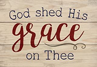 P. Graham Dunn God Shed His Grace on Thee Natural 6.5 x 4.5 Solid Wood Mini Tabletop Sign
