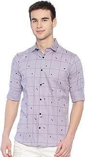 Kevin Swift Printed Cotton Shirt - Powder Blue
