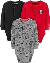 Carter's Baby Boys' 3-Pack Long-Sleeve Bodysuits