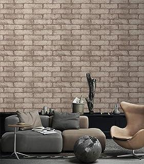 "Dwind D1018 Vintage Brick Stone Wallpaper 3D Effect Ppeel and Stick Gray Contact Wallpaper 17.7"" x 196.9"""