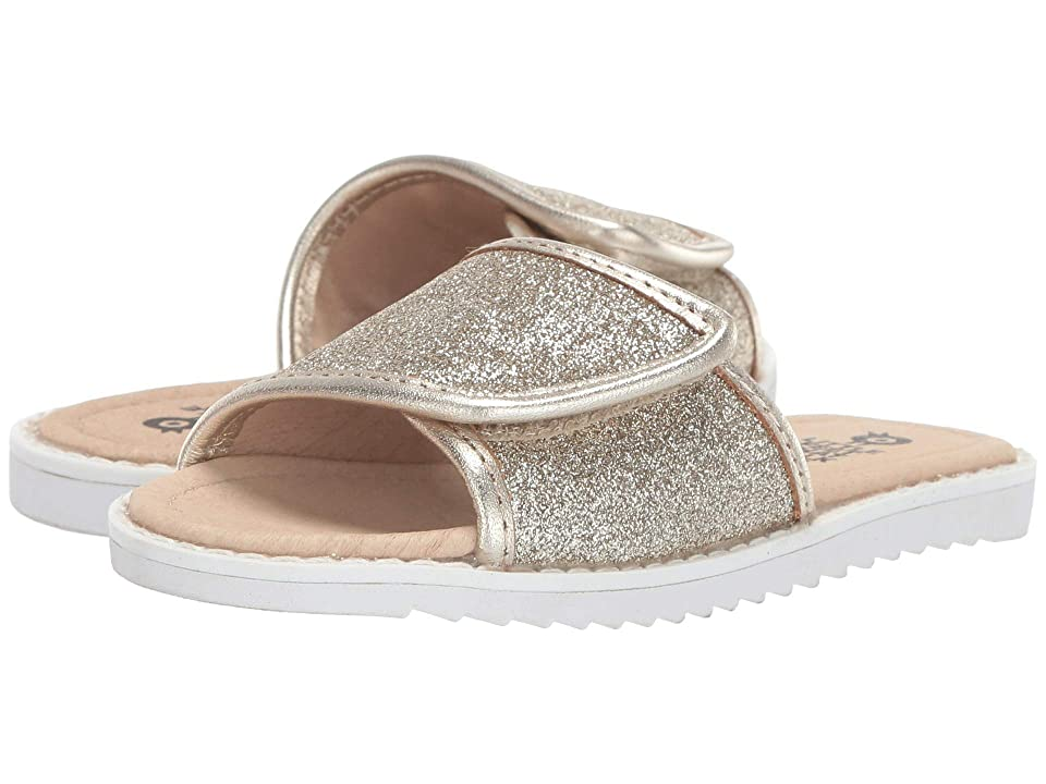Old Soles Glam Slides (Toddler/Little Kid) (Glam Gold/Gold) Girl