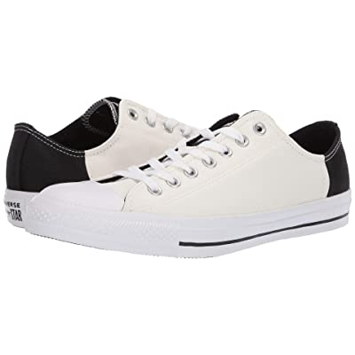 Converse Chuck Taylor(r) All Star(r) Color Block Patch Ox (Egret/Black/White) Athletic Shoes