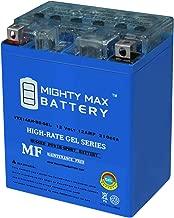 Mighty Max Battery YTX14AH 12V 12AH Gel Battery for Yamaha 350 YFM35F, U Big Bear '87-'99 Brand Product