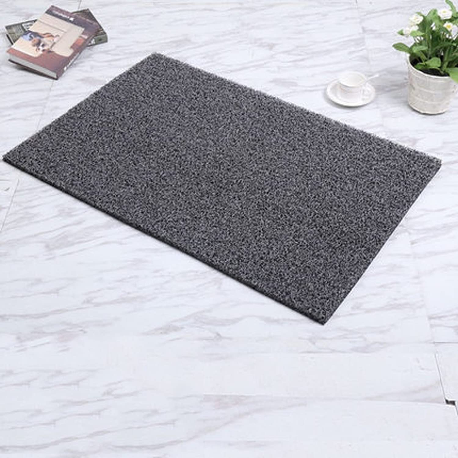 Modern Entrance Mat Heavy Duty Doormat Indoor Mats for Entryway Dirt Trapper Mats-Non Slip,Durable,Tough-Dark Grey 60x100cm(24x39inch)