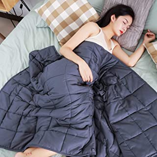 bedee Weighted Blanket 15 lb for Adults, Cooling Heavy Blanket with Natural Cotton (48''x72'')