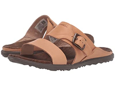 Merrell Around Town Luxe Buckle Slide (Natural Tan) Women