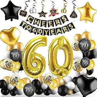 Amazon.es: 60 cumpleaños decoracion