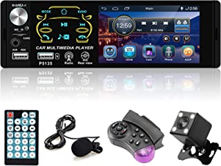 $46 » Car Stereo 4.1 Inch Single Din Bluetooth Car Radio Capacitive Touch Screen Radio Receiver Support FM/Subwoofer/Bluetooth/T...