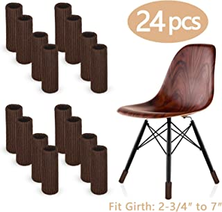 LimBridge 24pcs Chair Socks, Elastic Wood Floor Furniture Chair Leg Feet Protectors Covers Caps Set, Fit Girth from 4