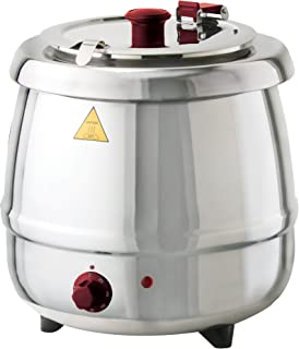 Glenray 1024108 Premium Soup Kettle, 800W, 10.5 sq. ft, Stainless Steel