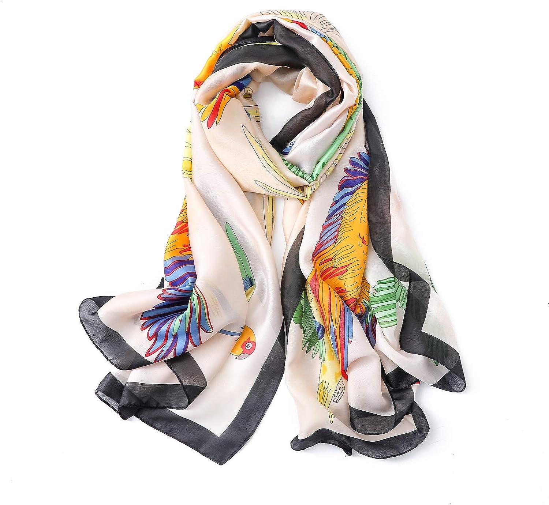 QYX Silk Scarf for Women Fashion Scarves Sunscreen Shawls Wraps 71