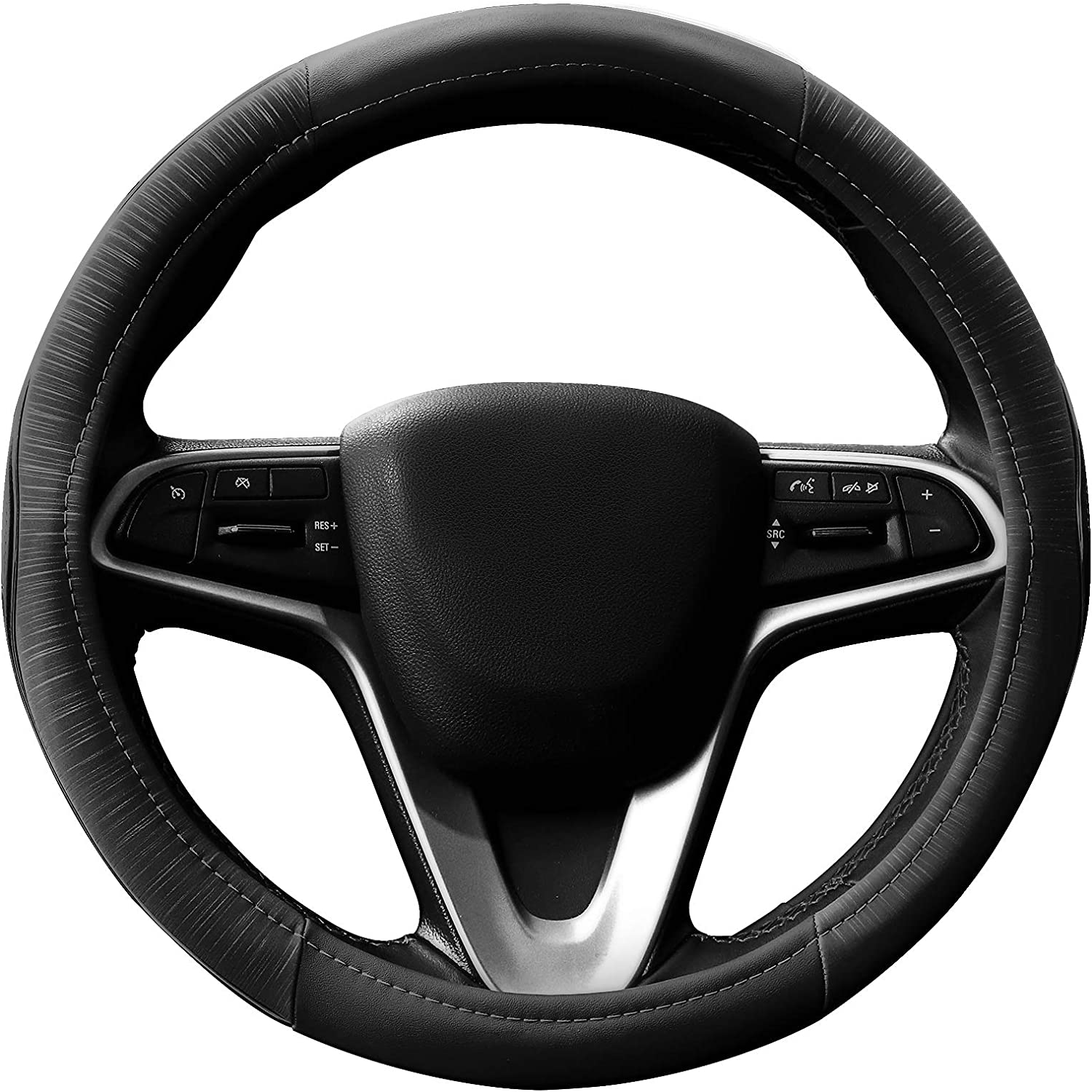 HOUSE DAY Finally popular brand Leather Car Steering Wheel Re Heat Long Beach Mall Cover Odorless TPR