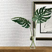RoomMates RMK11364WP Gray and White Tick Mark Peel and Stick Wallpaper