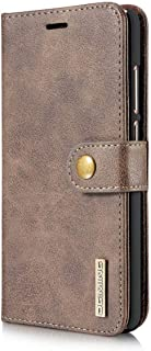 Huawei Mate 9 Leather case with magnetic cover form DG MING - Brown
