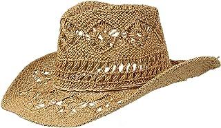 e210f8f4ec238 GEMVIE Women Straw Hat Hollow Out Cowboy Cowgirl Sun Hat Summer Beach Straw  Cowboy Hat