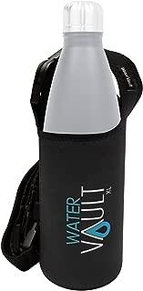 WaterVault Neoprene Bottle Holder,  Adjustable Detachable Strap,  Shoulder Sling & Hand Carrier Available in 2 Sizes: Regular & XL fits 1 Liter Hydro Flask Type Bottle