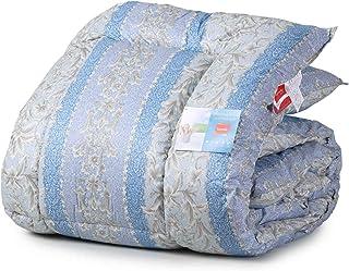 掛布団 シングル 日本製 アレルギー・アトピー対策 生地 綿100% 使用 ペイズリー 柄 ブルー