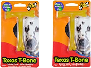 (Pack of 2) Fido Texas T-Bone Dental Dog Bone, Beef Flavored Size Small 4