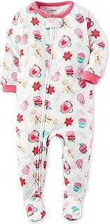 Featurestop Infant Baby Cotton Blend Footless Christmas Jumpsuit Pajamas