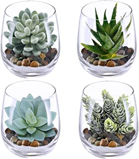 fake plants in glass