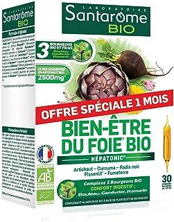 Santarome Bio - Bien-Être du Foie Bio | Complément Alimentaire à base d'Artichaut, Radis Noir et Pissenlit - Hépatonic | 3...