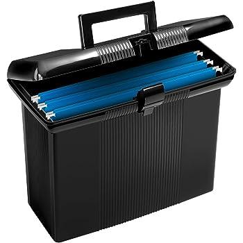 """Pendaflex Portable File Box, Black, 11"""" H x 14"""" W x 6-1/2"""" D  (41732)"""