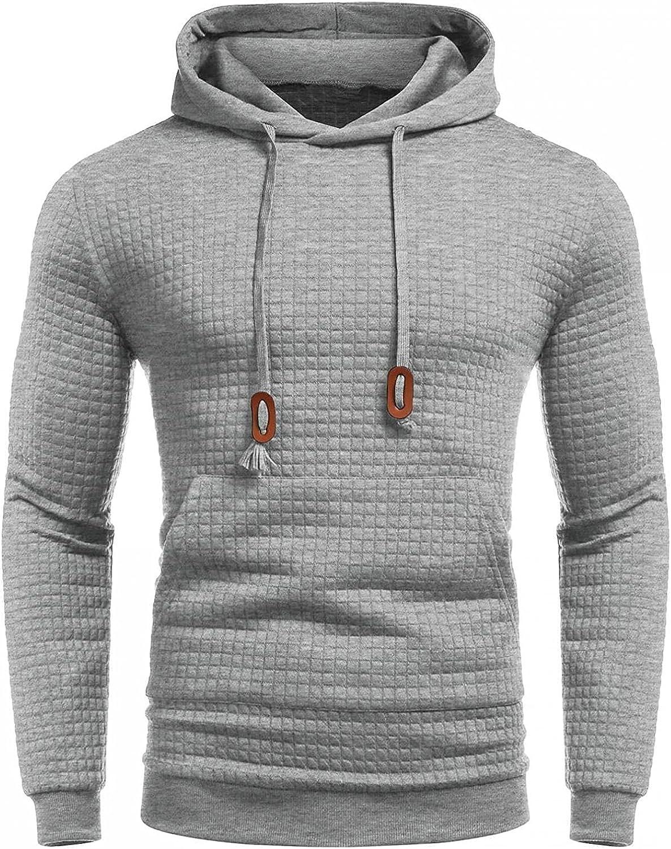 Hoodies for Sale Men Pullover Colorado Springs Mall Men's Color L Solid Sweatshirt Athletic