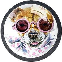AITAI Set van 4 deurknop decoratieve handgreep hond Corgi elegante toevoeging voor kast lade dressoir slaapkamer