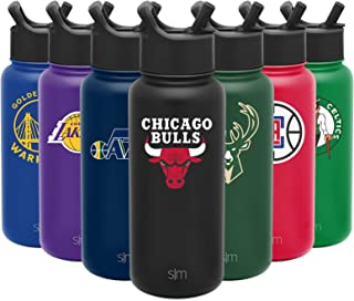 Simple Modern NBA Team Licensed Water Bottles, Tumblers and Coffee Mugs - Vacuum Insulated Stainless Steel Travel Leak Proof Straw Lid - Gifts for Men, Women, Dad, Brother, Husband, Kids