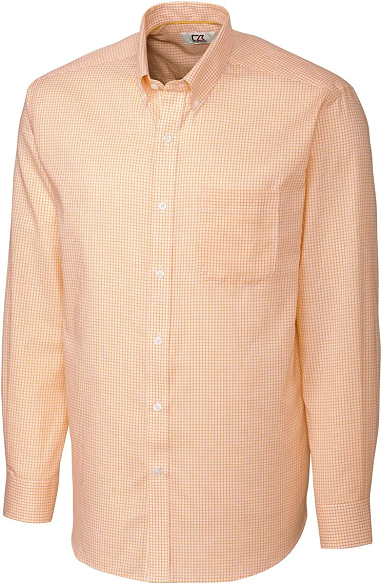 Cutter & Buck Men's Big And Tall Wrinkle Free Easy Care Shirt, College Gold, 4XB