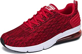 Men's Running Shoes Fashion Sports Sneakers Knit Air Cushion Lightweight Casual Athletic Gym Tennis Training Walking