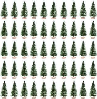 ALLESOK 50 st. Modell träd landskap tåg järnväg träd flockning av snöflingträd 10 cm