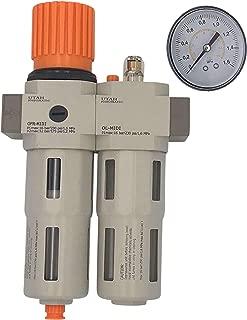 Utah Pneumatic OC2000-01.02.03 Air Drying System Filter Regulator Lubricator - Air Particulate Filter 5 Micron Coalescing Filter Modular Combo 1/4