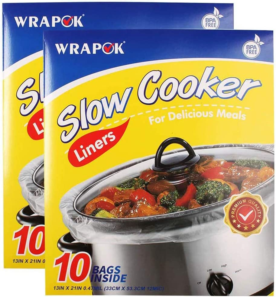 WRAPOK Slow Cooker Liners Cooking Bags or half Oval BPA Super Special SALE held Roun for Free