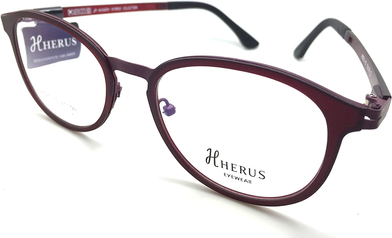 Hybrid Collection Prescription Eye Glasses Frame Metal and Ultem Herus 3303 C3