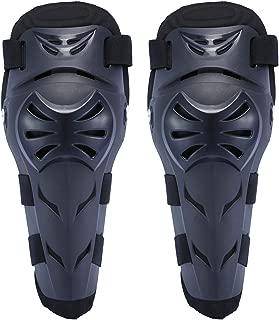 OHMOTOR Knee Guards, Knee/Shin Guard Knee Pads Crashproof Antislip Protective Shin Pads for Motorcycle Mountain Biking ATV Motocross(Knee pads-Black)