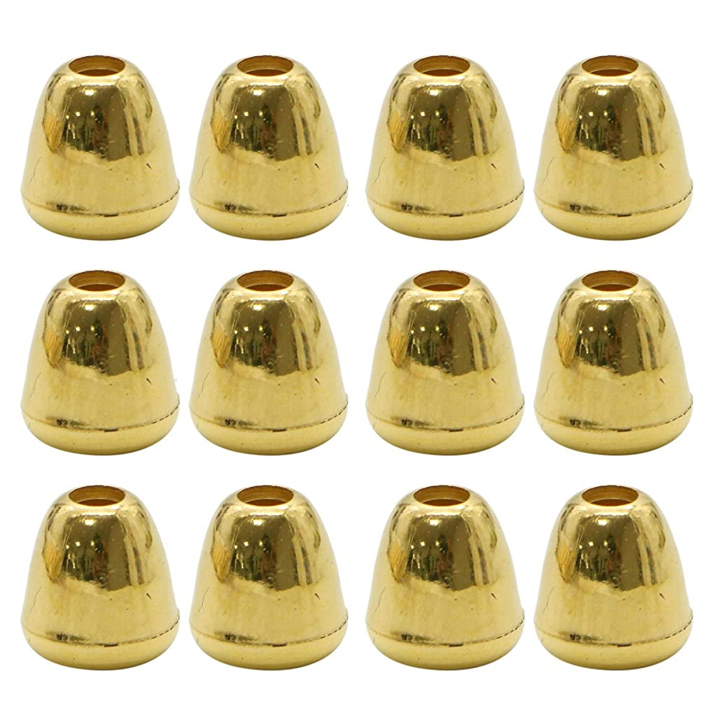 Monrocco 200 Pcs Gold Bell Drawstring Rope Ends Cord Stopper Rope Paracord Locks