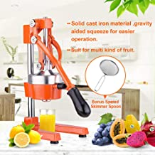 Commercial Citrus Press Fruit Squeezer Press Juicer Manual for Orange Lemon Juicing..