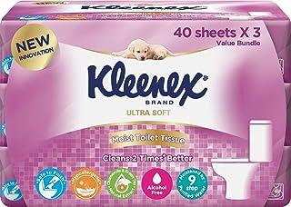 Kleenex Ultra Soft Moist Toilet Tissue, 40ct (Pack of 3)