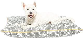 MOG & BONE Futon Dog Bed Grey Ikat Print X-Large