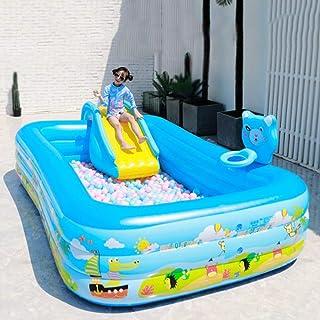 Adatto per Interni//Esterni//Spiaggia//Piscina//Cortile//Festa Estiva in Acqua Accessori per Piscina per Bambini nella Sala per Bambini con Pompa A Pedale Tennis Piccolo Scivolo Gonfiabile