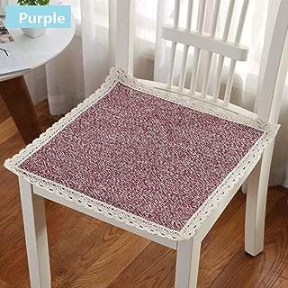 Square Soft Seat Cushion Comfortable Chair Pad Lace Cotton Non-Slip Buttocks Chair Cushions