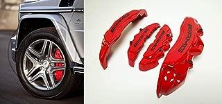 AMG Style – Red Color Fiberglass – Brake Caliper Covers Brake Pads Trim – for Mercedes-Benz ML-Class W166 GL-Class X166 G-Class W463 – for 19 inch + rims