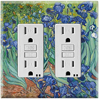 Graphics Wallplates - Irises by Van Gogh - Double Rocker/GFCI Wall Plate Cover
