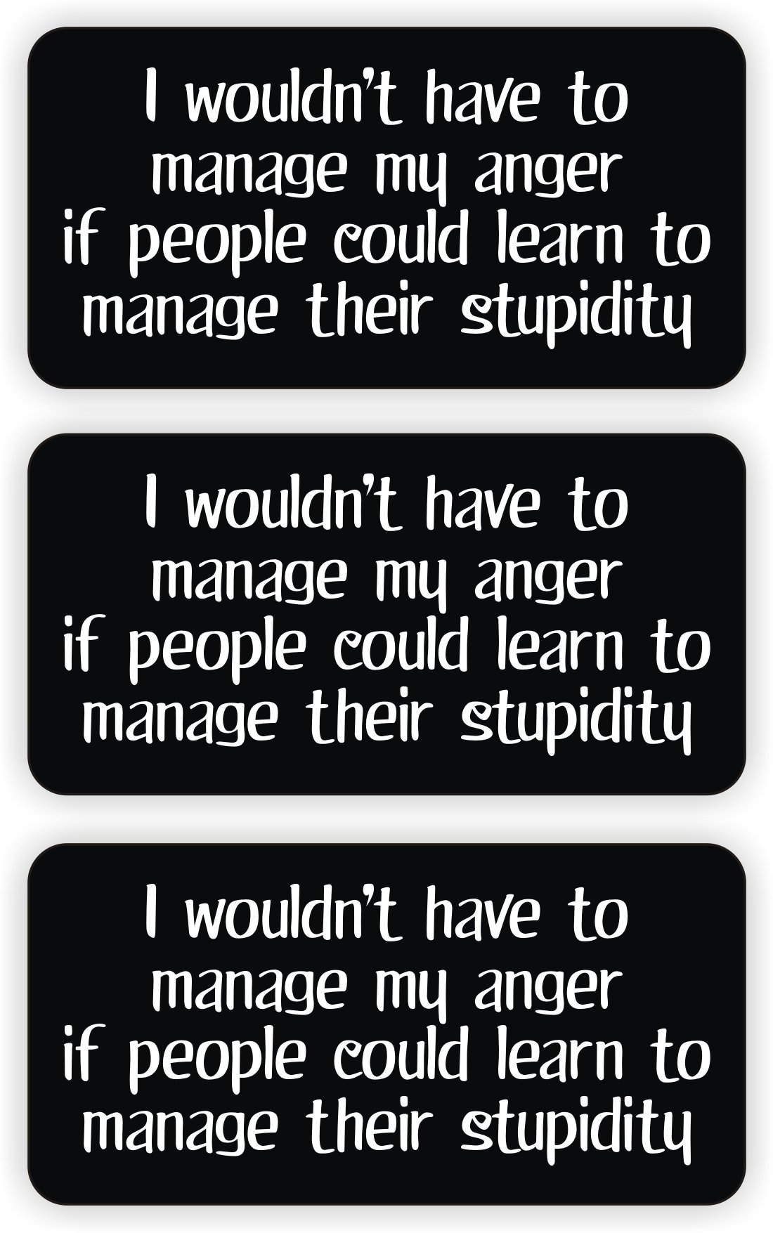 Manage My Anger Hard Hat Sticker / Decal / Label Tool Lunch Box Helmet Funny