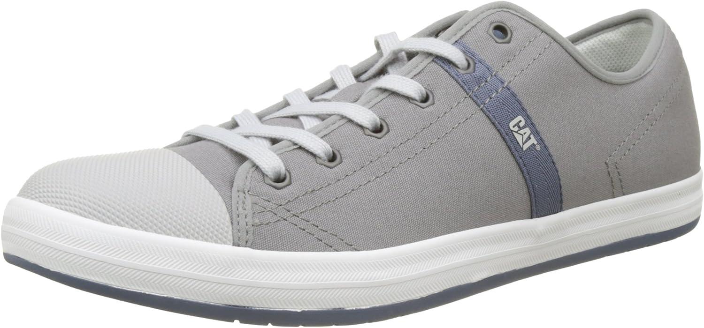 CAT Mens Checklist Canvas Sneakers in Grey