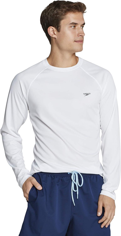 Speedo Men's UV Swim Shirt Easy Long Sleeve Regular Fit